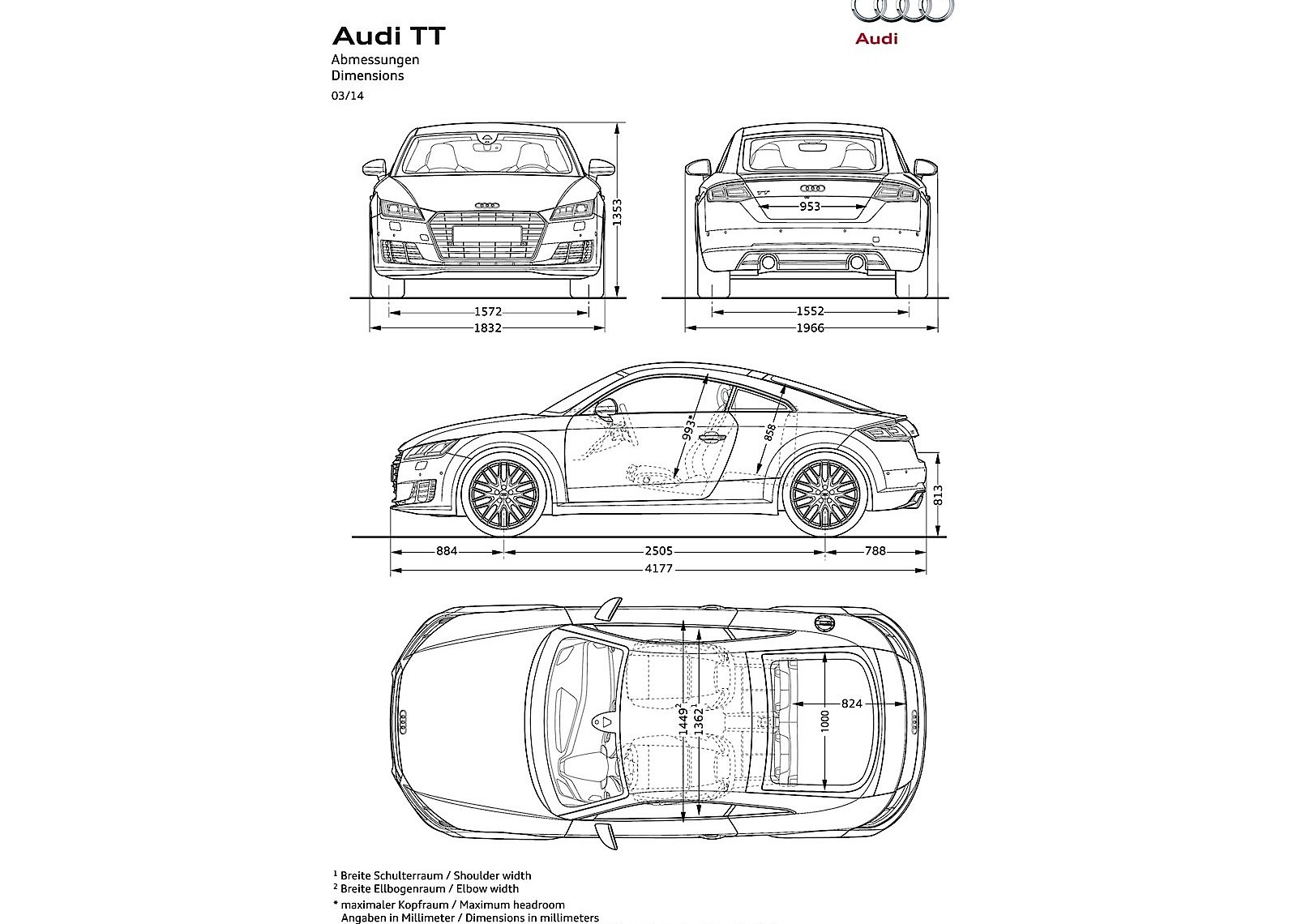 audi tt coupe specs  u0026 photos