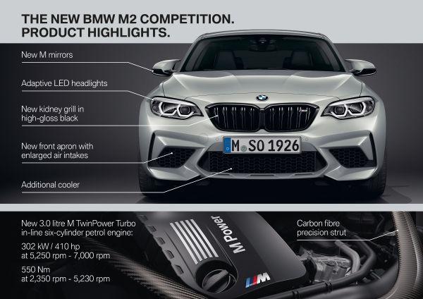 BMW M2 Competition specs & photos - 2018, 2019 - autoevolution