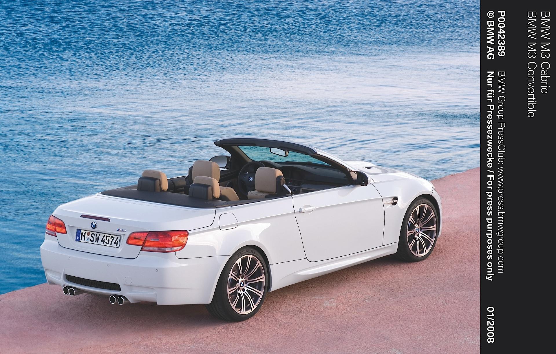 BMW M3 Cabriolet (E93) - 2008, 2009, 2010, 2011, 2012 ...