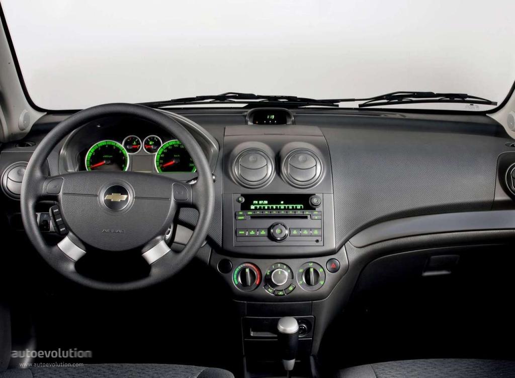Chevrolet aveo kalos sedan specs 2005 2006 2007 2008 for Interieur chevrolet aveo