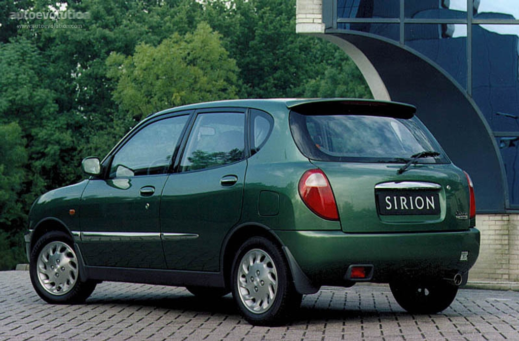 Daihatsu Sirion 1998 on 3 cylinder 1 liter engine