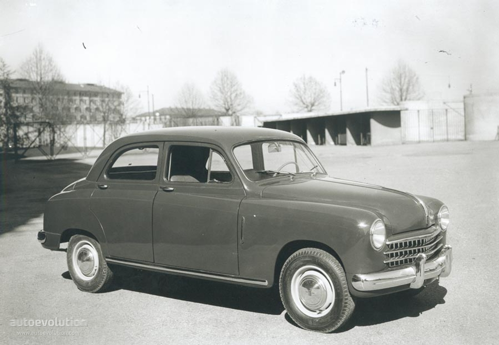 Fiat 1400 1950 on tuning car radio