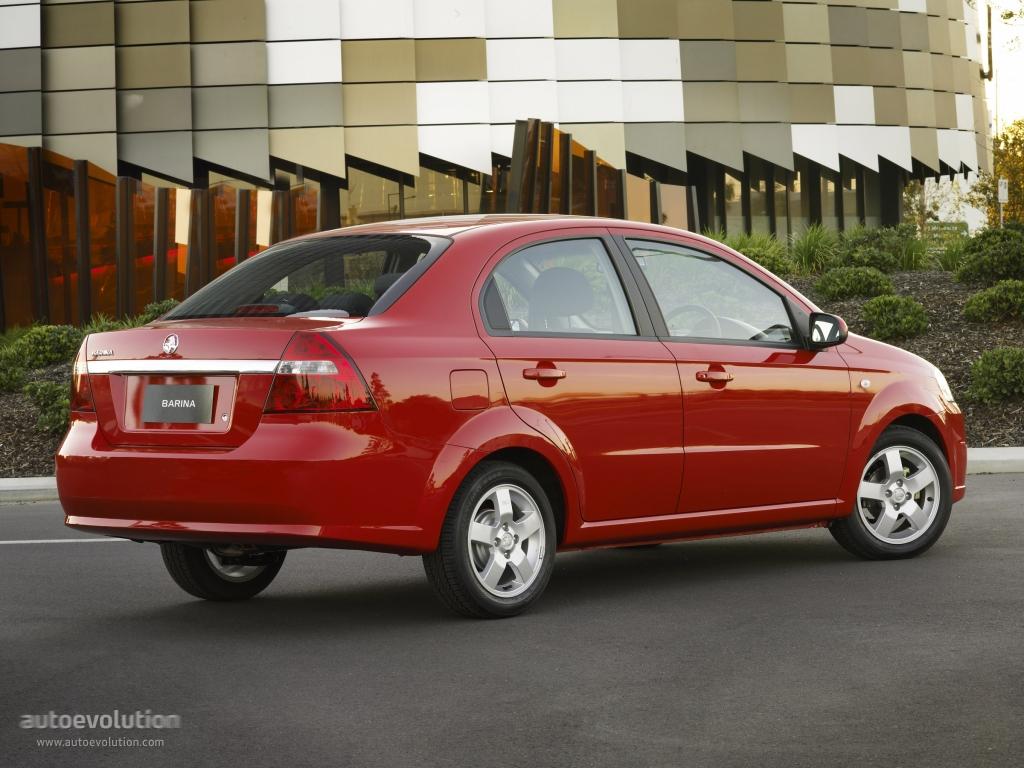 Holden Barina Sedan 2006 2007 2008 2009 2010 2011