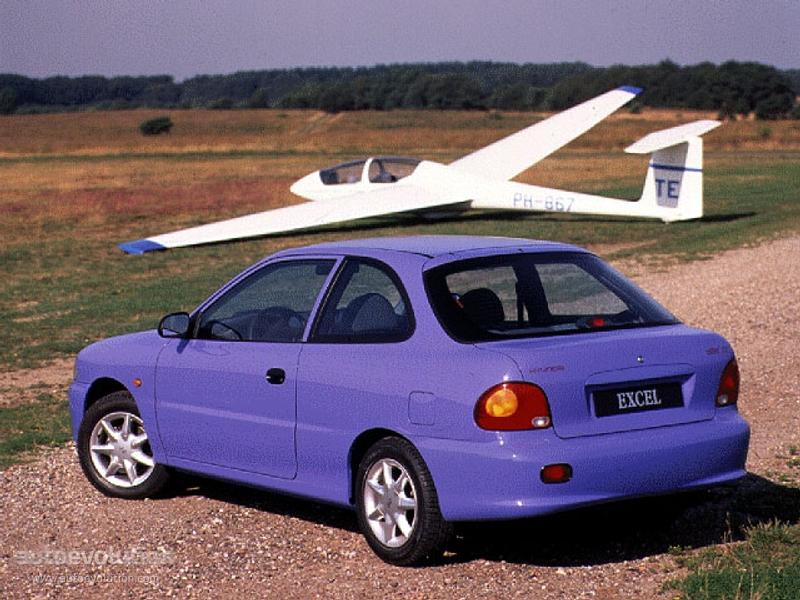 Hyundai Excel 3 Doors - 1994  1995  1996  1997  1998