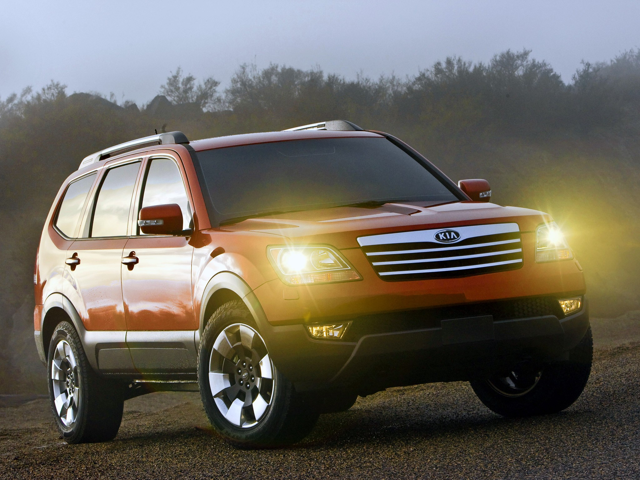 kia borrego specs  u0026 photos