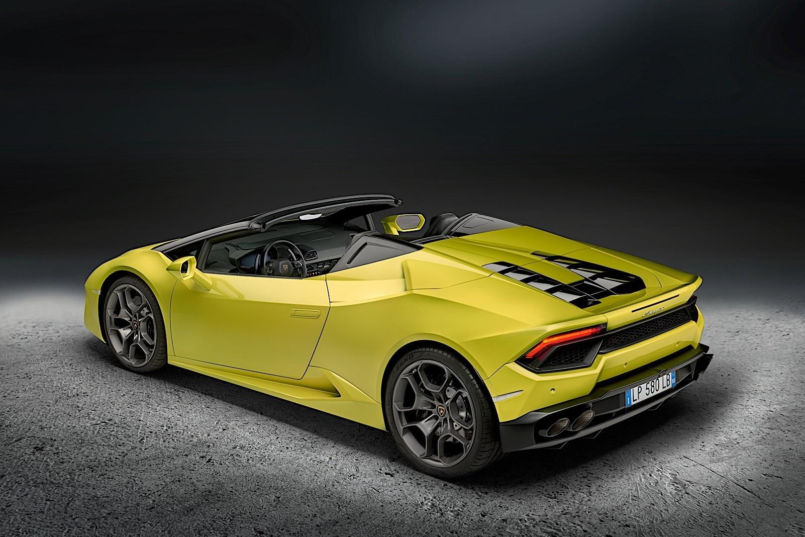 Lamborghini Huracan Lp 580 2 Spyder Rwd Specs Photos 2016