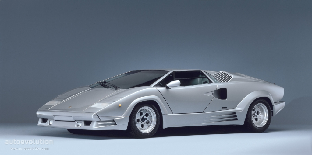 Autoart 1:18 lamborghini countach 25th anniversary edition in.