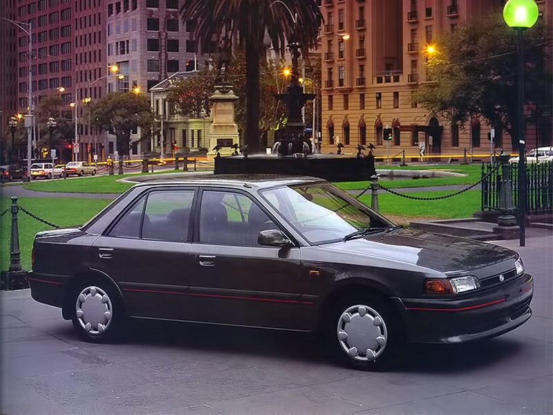 MAZDA 323 (BG) Sedan specs & photos - 1989, 1990, 1991 - autoevolution
