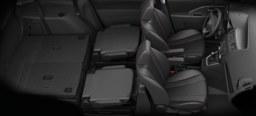Mazda5 interior dimensions