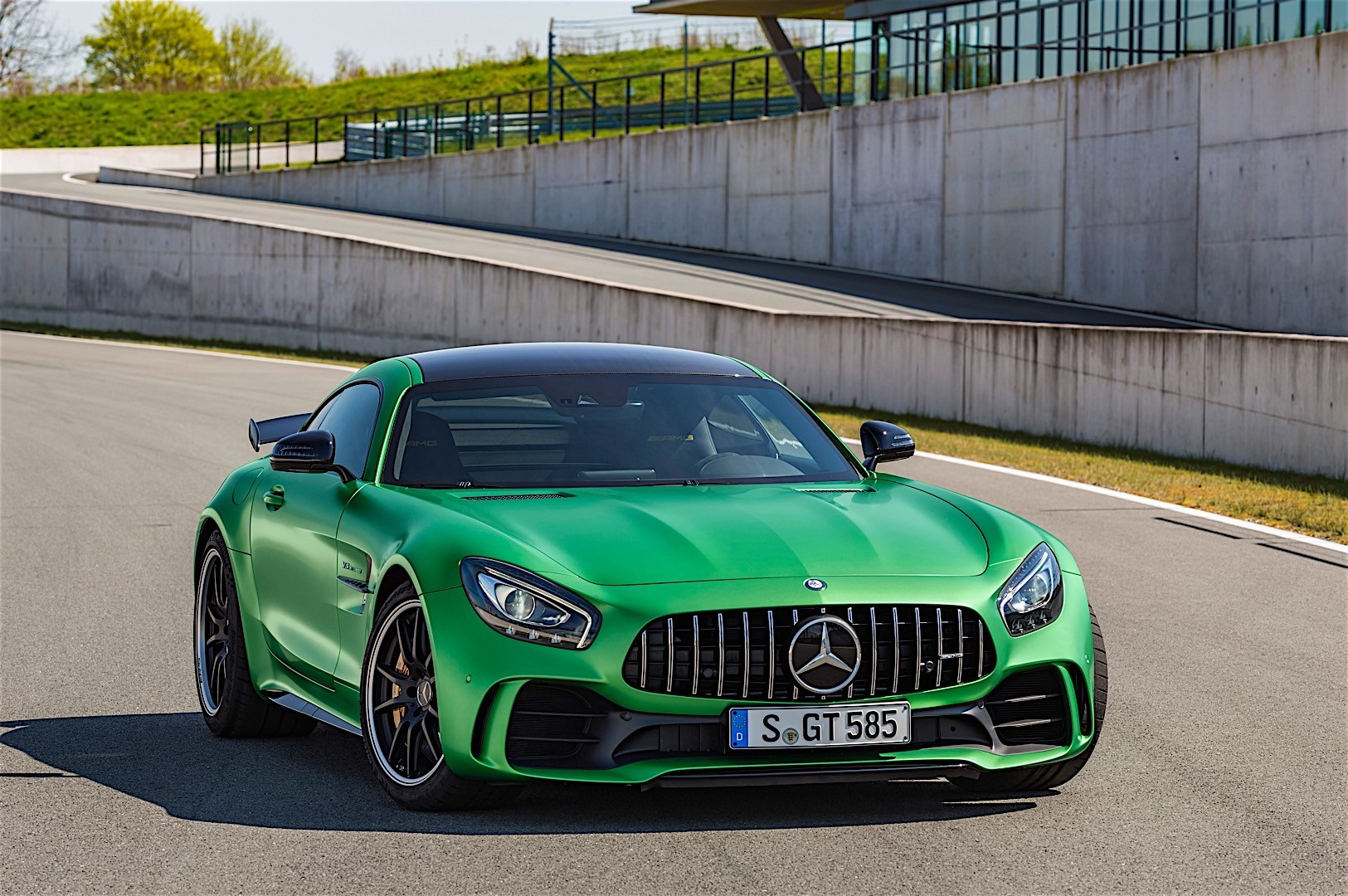 beast of the green hell the mercedes amg gt r mercedes