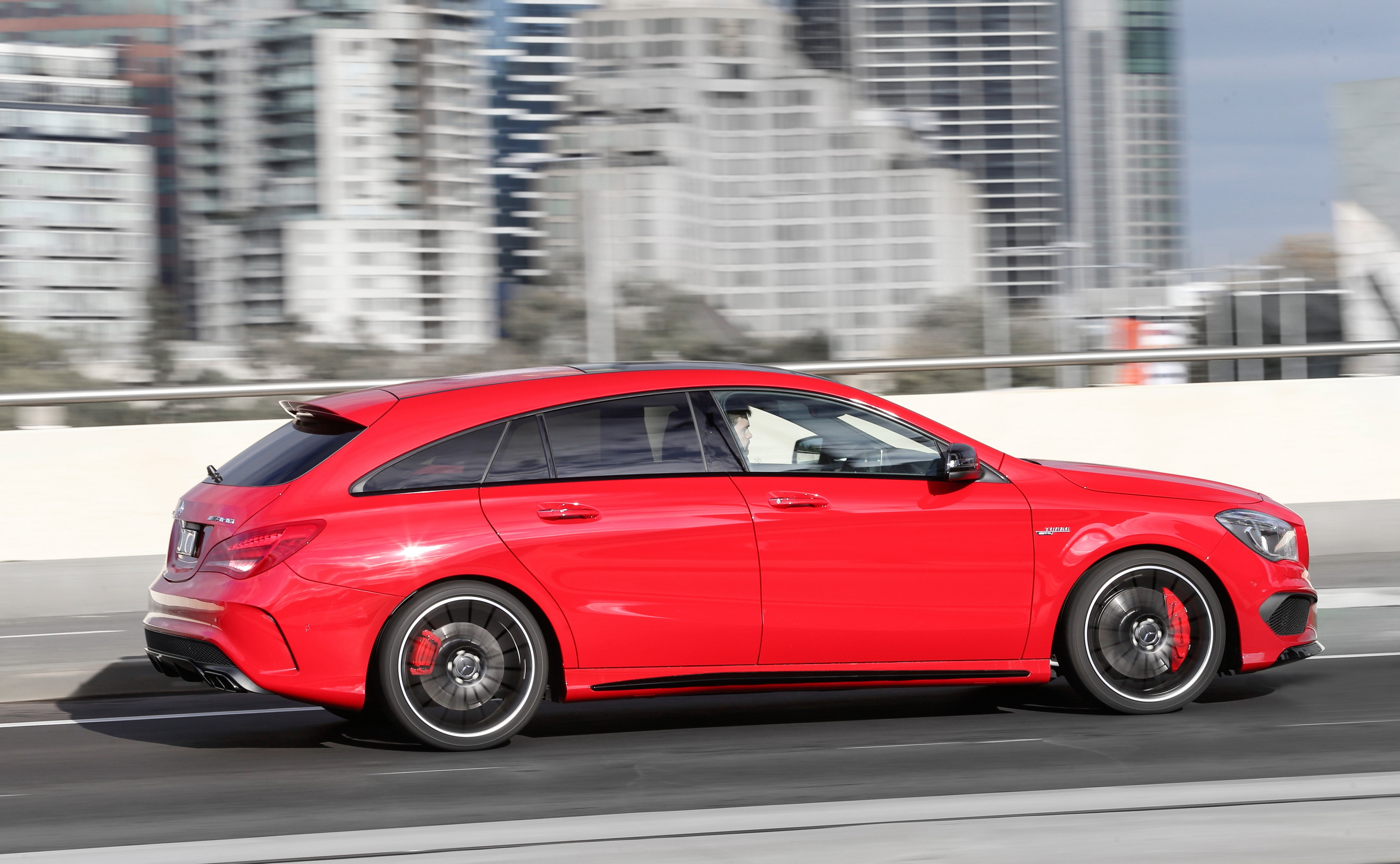 Mercedes benz cla 45 amg shooting brake 2015 2016 2017 for Red mercedes benz cla