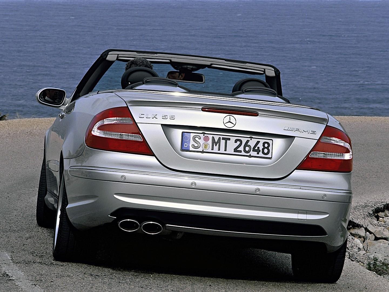 mercedes benz clk 55 amg cabrio a209 specs 2003 2004. Black Bedroom Furniture Sets. Home Design Ideas