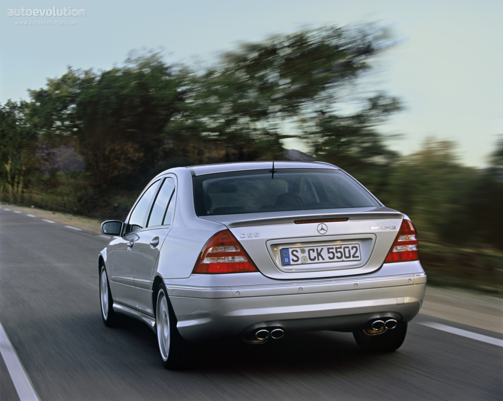 mercedes benz c 55 amg w203 specs 2004 2005 2006. Black Bedroom Furniture Sets. Home Design Ideas