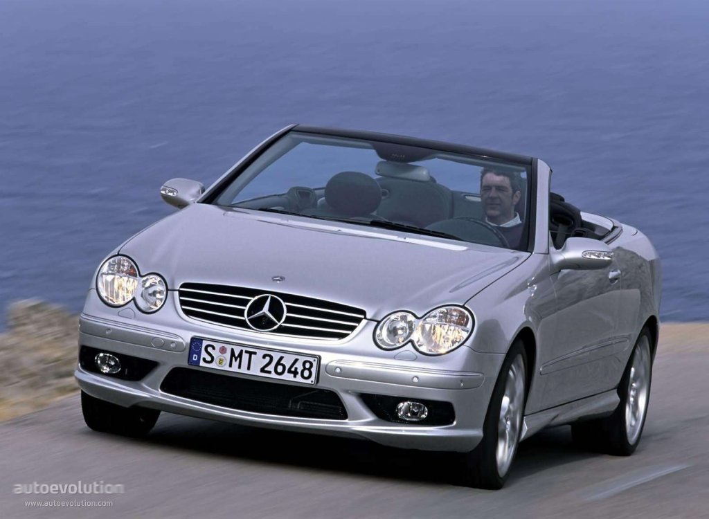 mercedes benz clk 55 amg cabrio a209 2003 2004 2005 2006 autoevolution. Black Bedroom Furniture Sets. Home Design Ideas