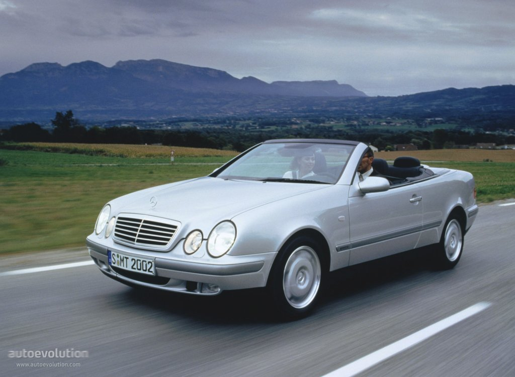 mercedes benz clk cabrio a208 specs 1998 1999. Black Bedroom Furniture Sets. Home Design Ideas