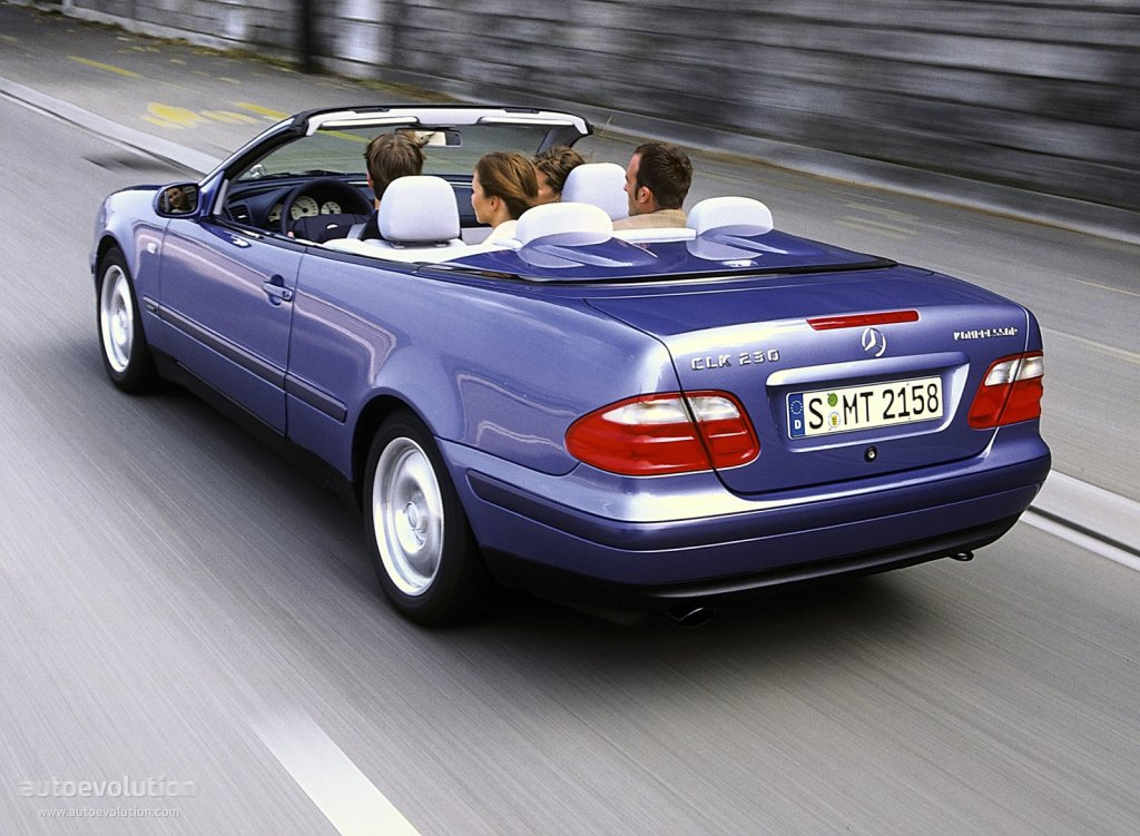mercedes benz clk cabrio a208 specs 1998 1999 autoevolution. Black Bedroom Furniture Sets. Home Design Ideas