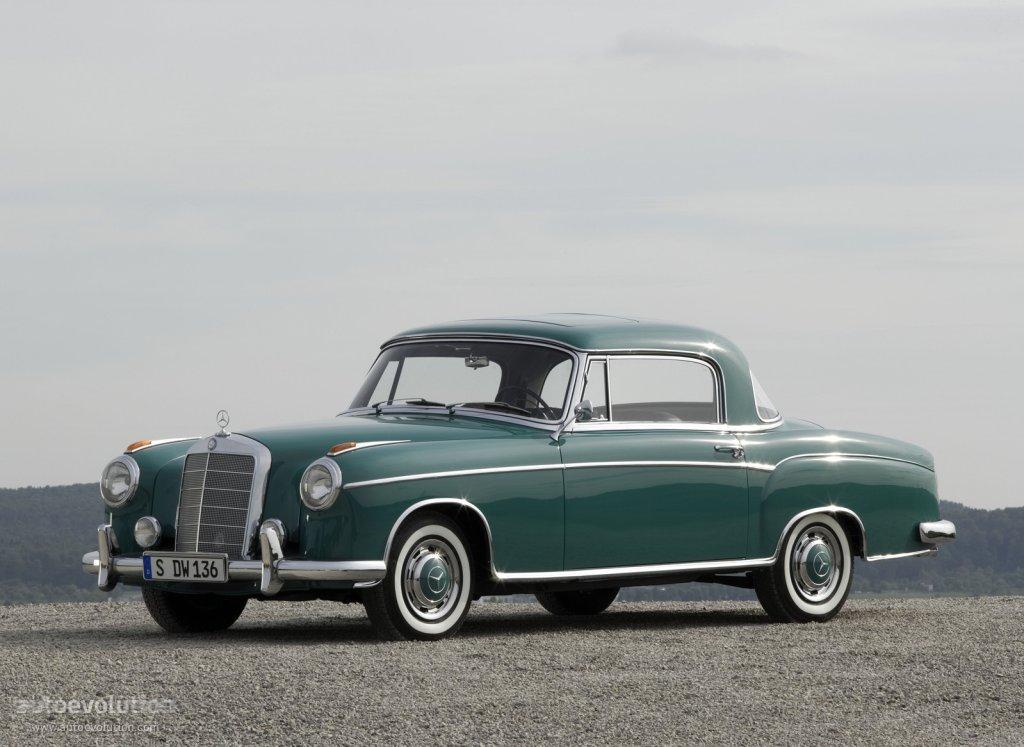 Mercedes benz ponton coupe w180 128 1956 1957 1958 for Mercedes benz ponton