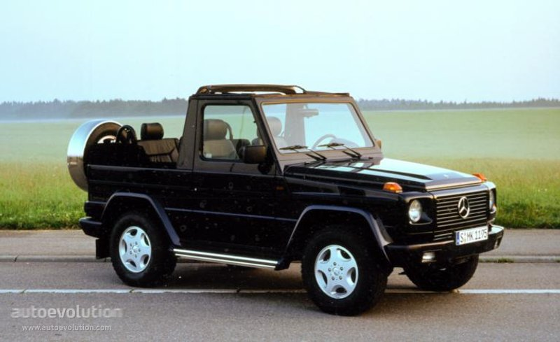 mercedes benz g klasse cabrio w463 specs 1990 1991. Black Bedroom Furniture Sets. Home Design Ideas