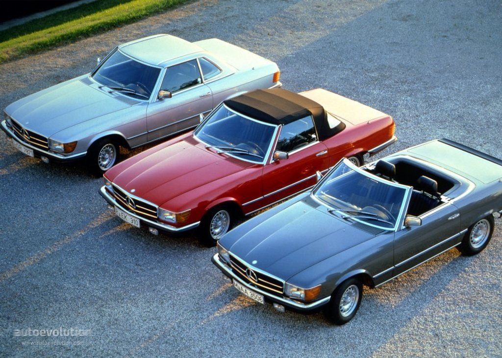 Fabuleux MERCEDES BENZ SL (R107) specs - 1971, 1972, 1973, 1974, 1975, 1976  DG08
