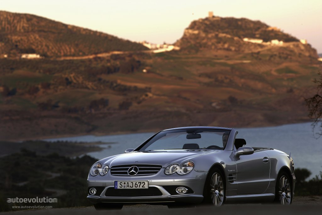 mercedes benz sl 55 amg r230 specs 2006 2007 2008. Black Bedroom Furniture Sets. Home Design Ideas