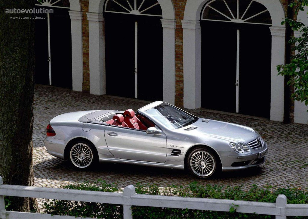 mercedes benz sl 55 amg r230 specs 2002 2003 2004. Black Bedroom Furniture Sets. Home Design Ideas