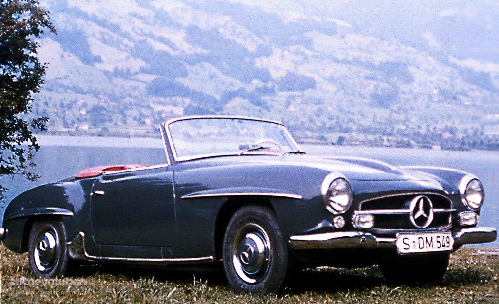 mercedes benz typ 190 sl roadster w121 1955 1956. Black Bedroom Furniture Sets. Home Design Ideas