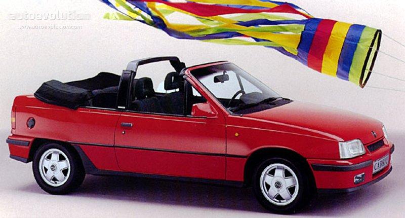Opel Kadett Cabriolet Specs 1987 1988 1989 1990 1991
