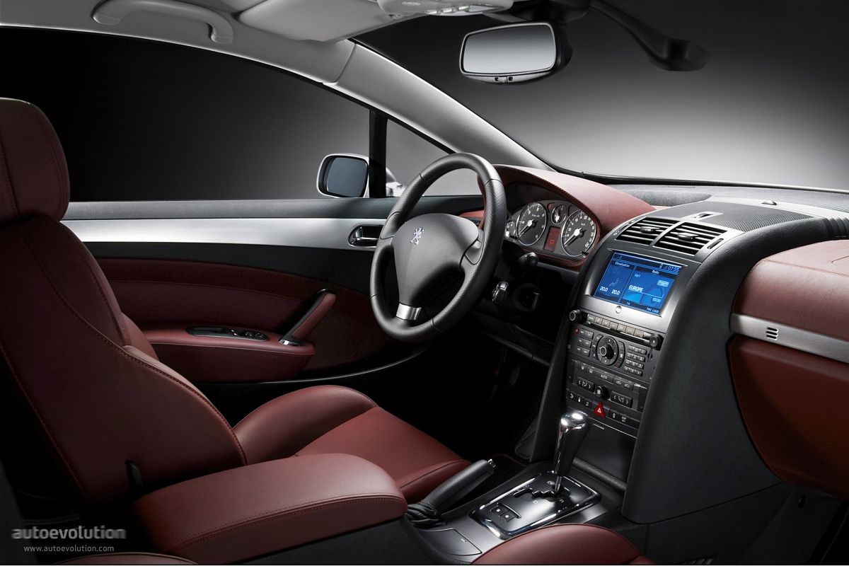 peugeot 407 coupe interior images