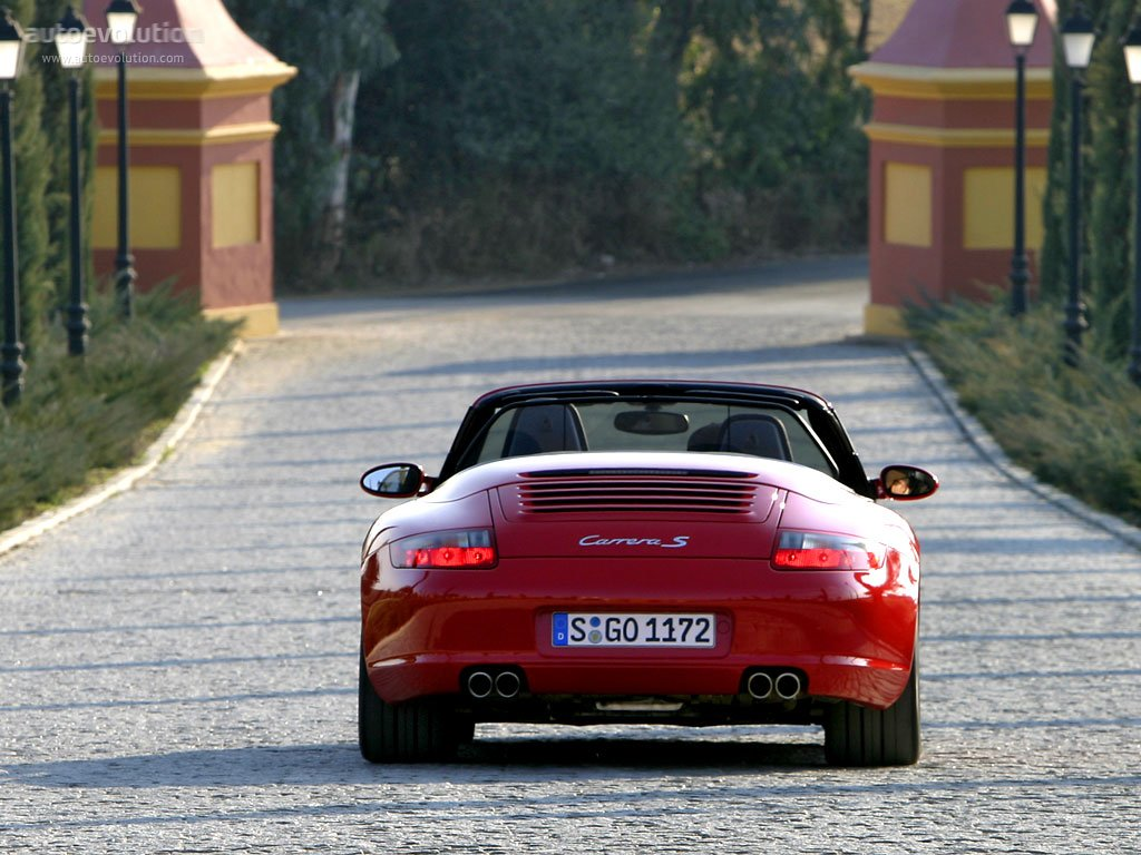 porsche 911 carrera s cabriolet 997 specs photos 2005 2006 2007 2008 autoevolution. Black Bedroom Furniture Sets. Home Design Ideas