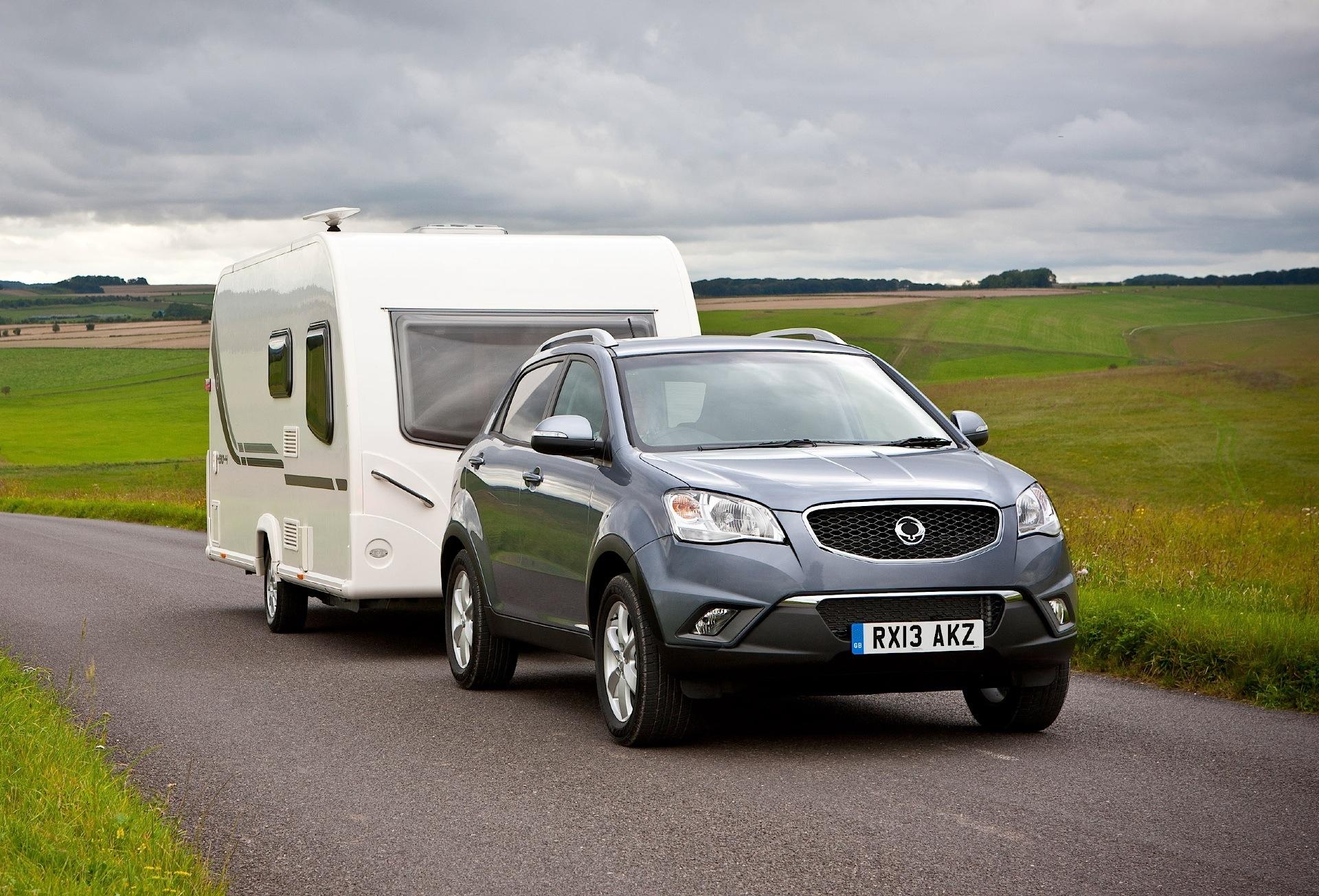 Sports Cars Towing Caravans