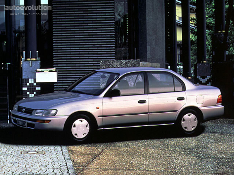 toyota corolla sedan specs photos 1992 1993 1994. Black Bedroom Furniture Sets. Home Design Ideas