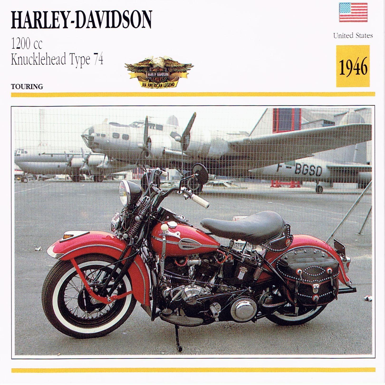 HARLEY DAVIDSON FL 1200 Type 74 Knucklehead Specs