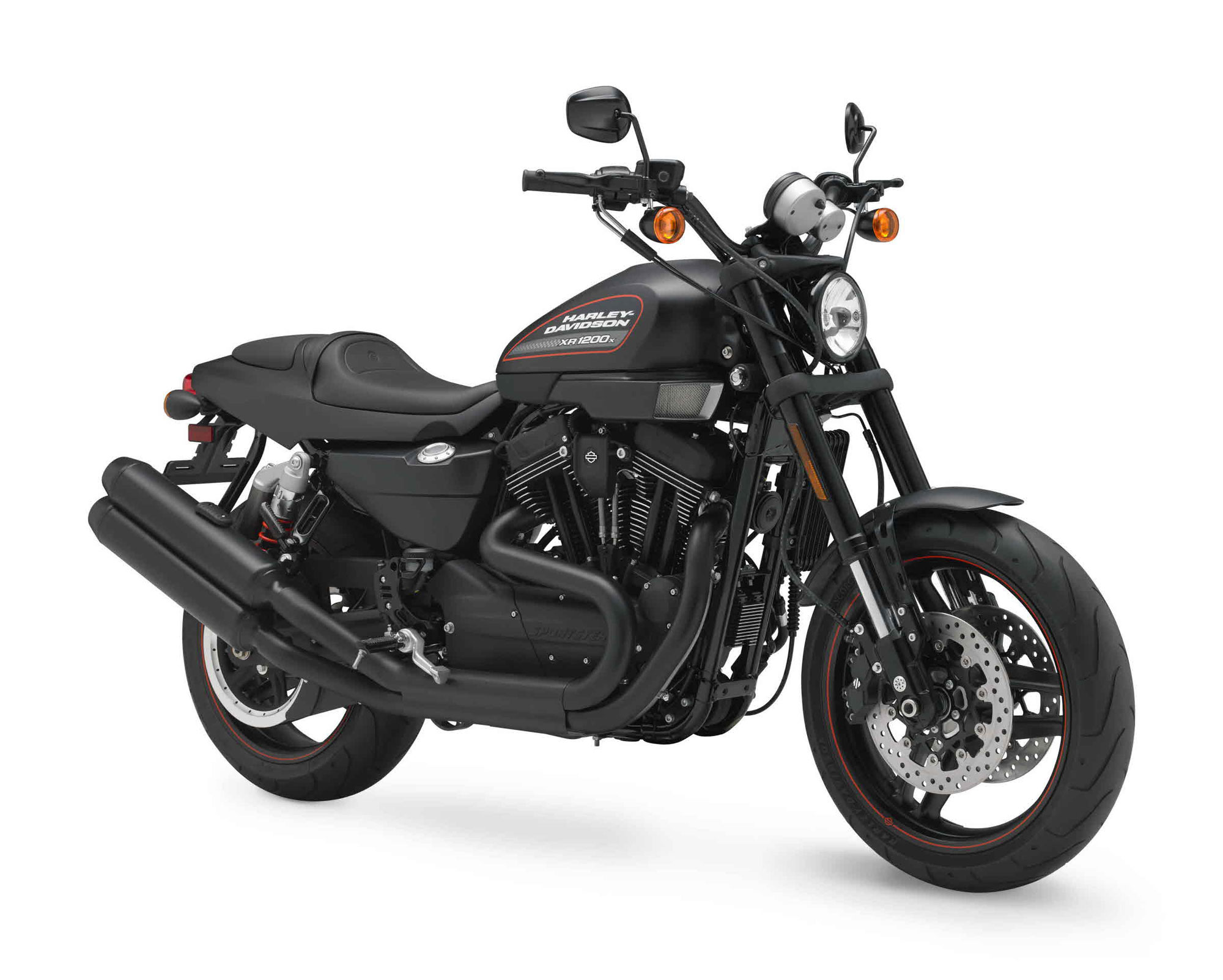 Orange Harley Davidson Xr Sportster