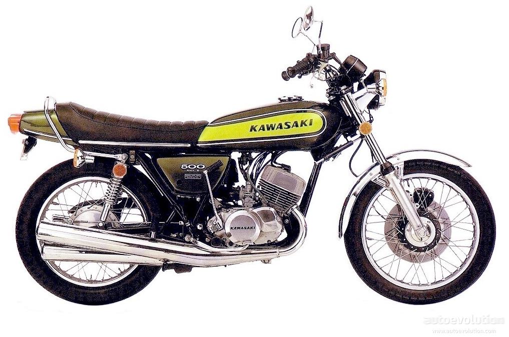 KAWASAKI H1 500 Mach III specs - 1968, 1969, 1970, 1971, 1972 ...