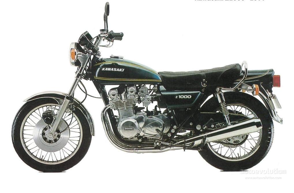 KAWASAKI Z1 specs - 1972, 1973, 1974, 1975, 1976, 1977, 1978, 1979