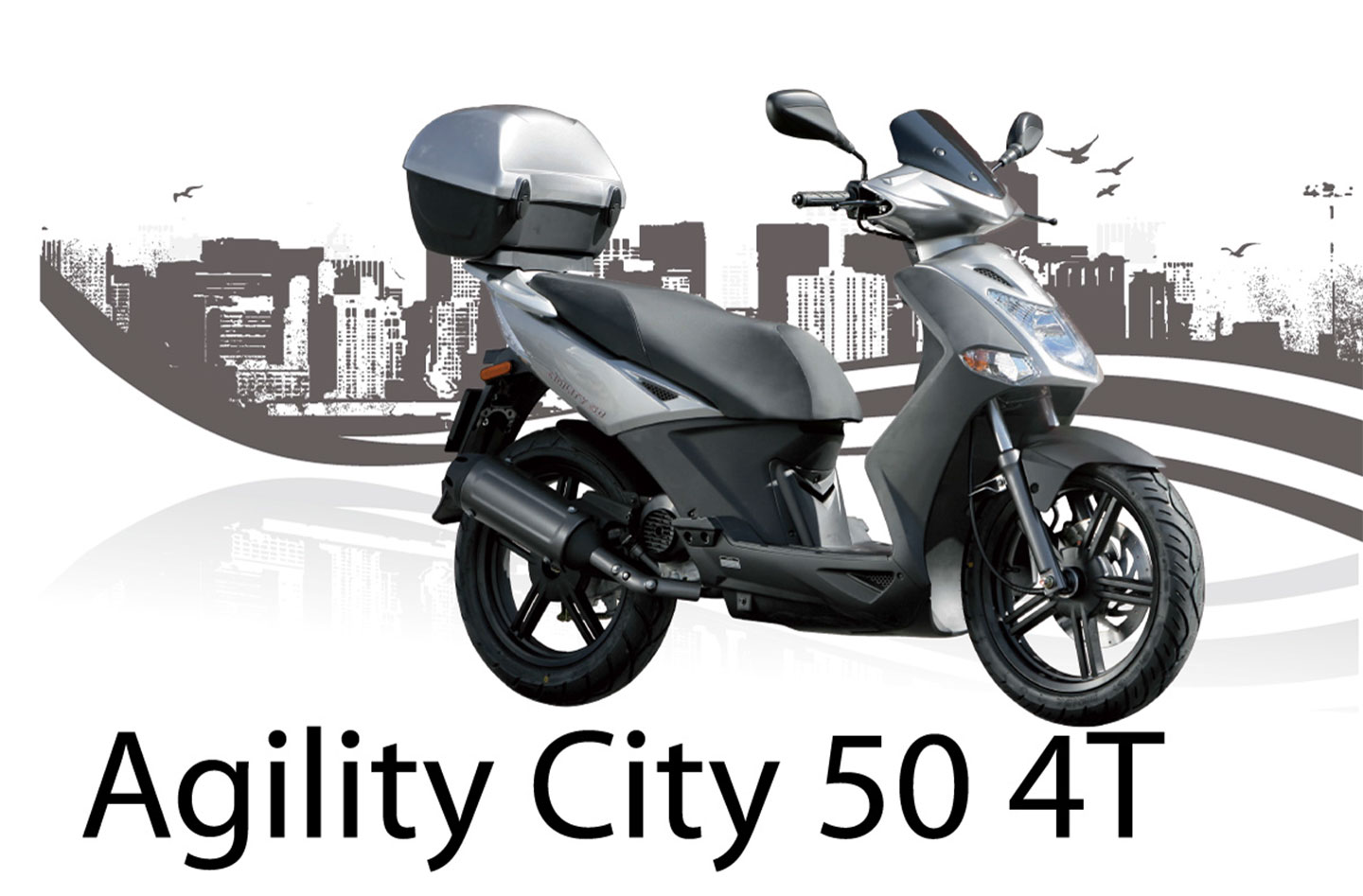 kymco agility city 50 4t specs 2013 2014 autoevolution. Black Bedroom Furniture Sets. Home Design Ideas
