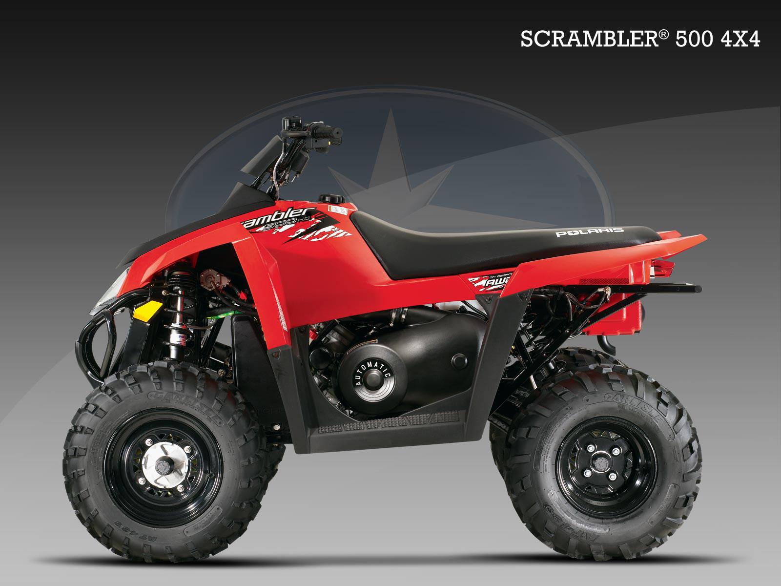 polaris scrambler 500 4x4 specs 2009 2010 autoevolution