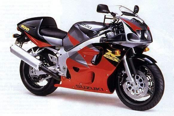 Suzuki Gsx-r 600 Specs - 1997  1998