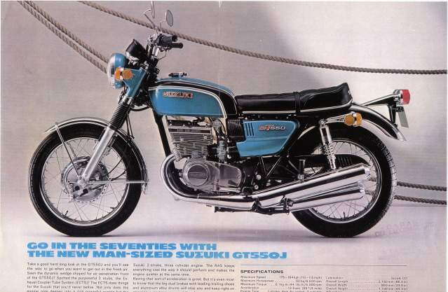 suzuki gt 550 specs 1972 1973 1974 1975 1976 1977 autoevolution. Black Bedroom Furniture Sets. Home Design Ideas