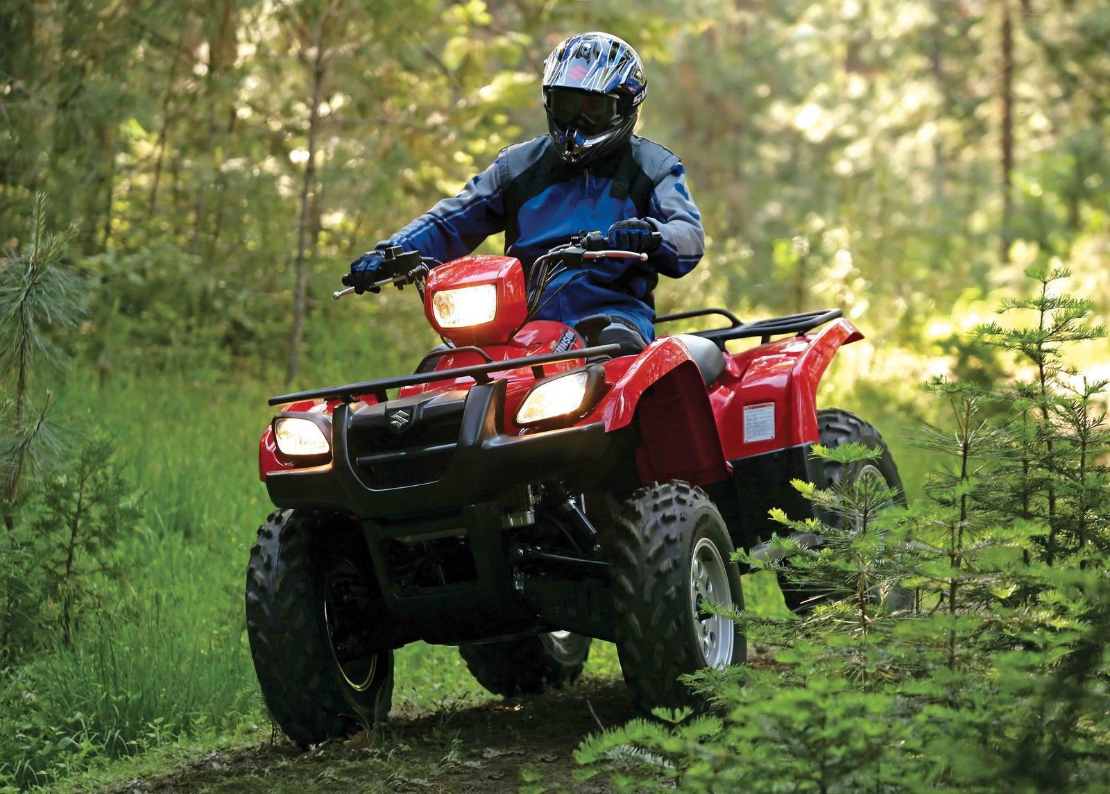 Suzuki Vinson X Automatic on Suzuki Single Cylinder Motorcycles