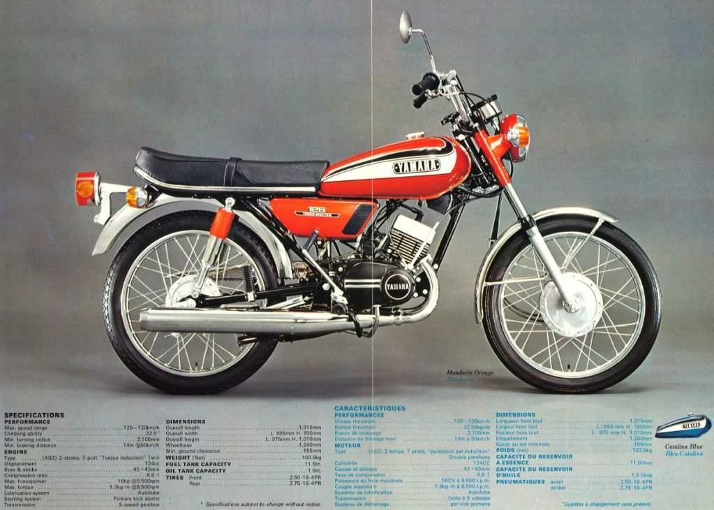 Yamaha Rd 125 Specs 1973 1974 1975 1976 1977 1978