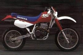 Honda xr 250 model history
