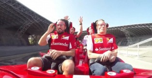 F1 Drivers Raikkonen and Alonso Keep It Cool at 4.8Gs on a Roller Coaster [Video]
