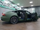New Audi A7 Gets First Wrap and It's Matte Army Green