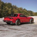 Kit de elevación todoterreno Mazda RX-7 renderizado por bradbuilds en Instagram