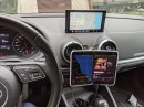 Microsoft Surface Duo in the car