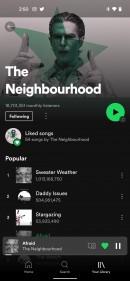El nuevo mini-reproductor de Spotify