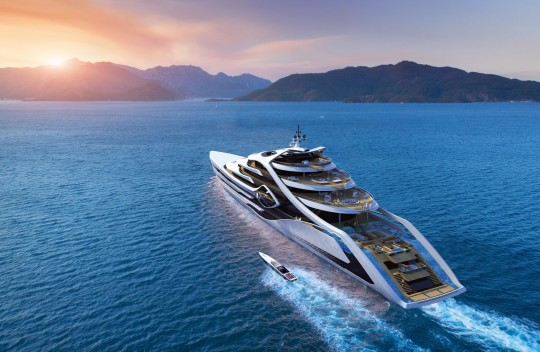 Autoevolution:574-foot Acionna Mega-Yacht Dwarves Ports, Towns, and Will Be Hydrogen-Powered.