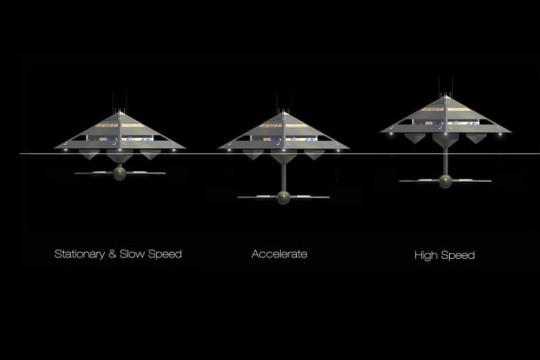 Le concept de Superyacht Tetrahedron, le bateau qui peut voler
