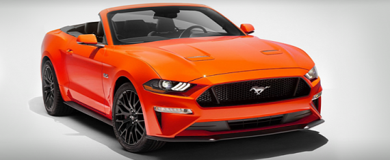 2018 ford mustang gt convertible looks mean and lean in this accurate rendering autoevolution. Black Bedroom Furniture Sets. Home Design Ideas